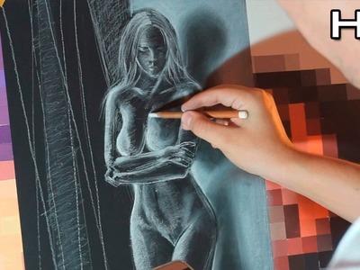 Dibujando un Cuerpo de mujer al Pastel - Consejos y Trucos Figura Humana