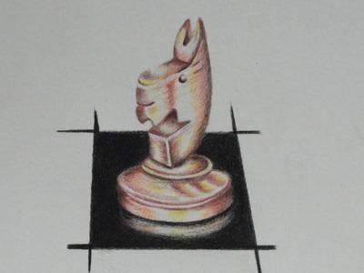 Dibujo De Un CABALLO De Ajedrez - Dibuja con Gloria