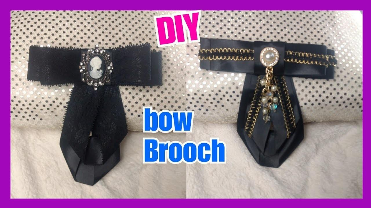 DIY Bow Brooch. Corbatines. Moños de moda. Lilyymakeuup