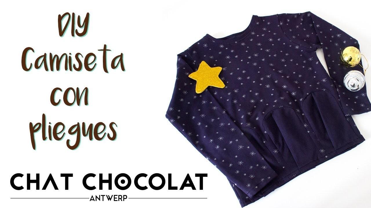DIY - Camiseta con pliegues y tela de Chat Chocolat   MANNEKEN
