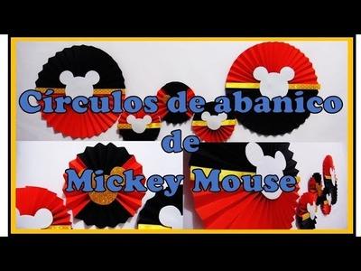 DIY: Círculos de abanico de Mickey Mouse