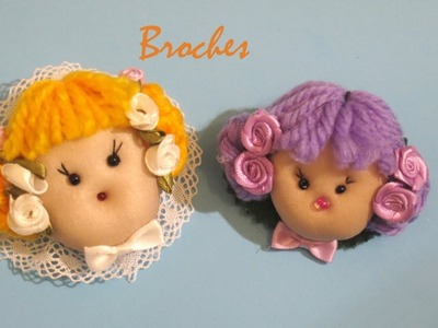 DIY como hacer broche busto munequita tutorialDIY how to make brooch bust munequita tutorial
