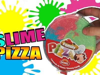 DIY CÓMO HACER SLIME PIZZA. FOOD SLIME!! Juguetes para niños