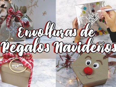 DIY ENVOLTURAS DE REGALOS NAVIDEÑOS. WenDIY