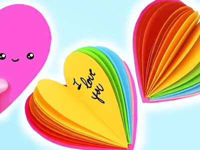 DIY MINI LIBRETAS KAWAII CORAZÓN ARCOIRIS!