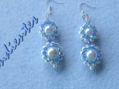 DIY -tutorial pendientes perlas y tupis swarouski DIY - pendientes perlas y tupis swarovski