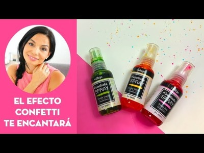 Efecto Confetti de colores con spray para scrapbooking, mixed media y art journal ⎮#30DST día 24