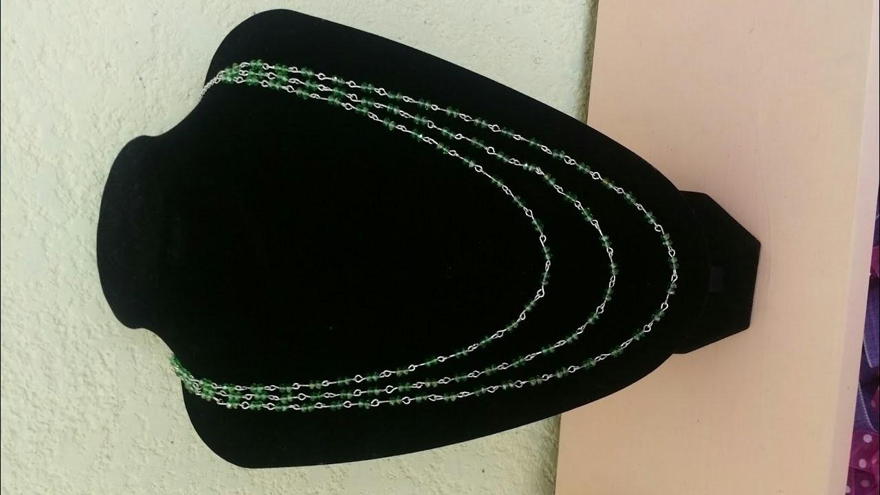 ???? Hacer Collar engarces 3 caidas Bisuteria  DIY Necklace