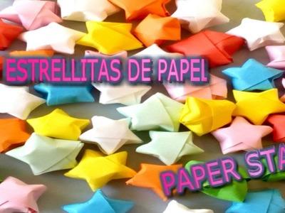 Haz ESTRELLITAS FÁCILES y ECONÓMICAS.EASY AND ECONOMIC PAPER STARS.