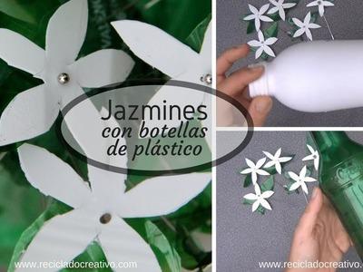 Ideas para reciclar botellas y convertirlas en flores como jazmines