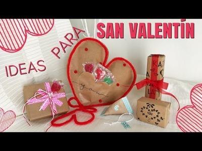 IDEAS PARA SAN VALENTÍN 2018 | ENVUELVE TUS REGALOS FÁCIL | MANUALIDADES DÍA DEL AMOR Y LA AMISTAD