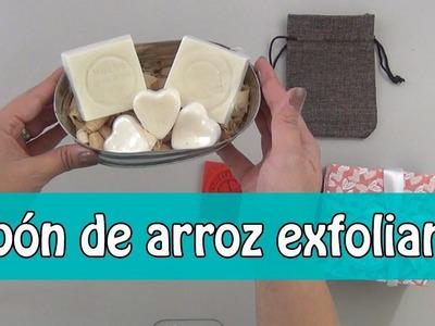 Jabón de arroz exfoliante y aclarante