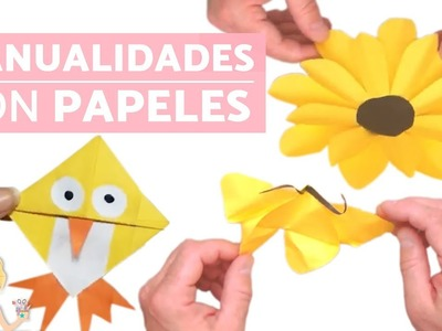 Manualidades con PAPEL - MANUALIDADES para NIÑOS