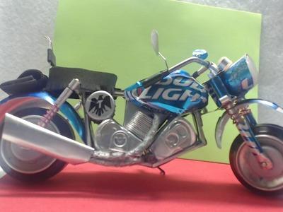 Motocicleta hecha con latas de aluminio Tutorial cap. 2