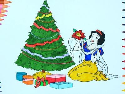 Navidad de pintar | Blancanieves | Dibujos Para Niños | Learn Colors