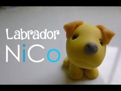 Perro labrador de cerámica fría - Labrador dog of polymer clay   Fácil