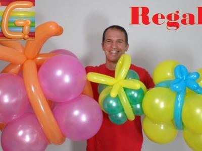 Regalos de globos - decoracion con globos - decoracion de fiestas infantiles