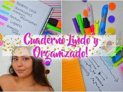 TIPS para un CUADERNO ORGANIZADO Y LINDO!♥