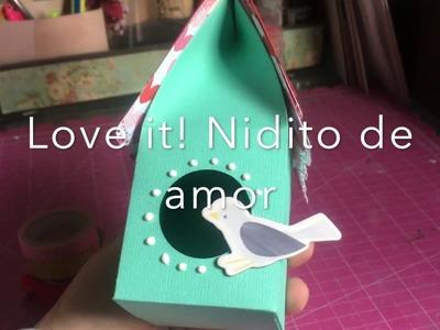 TUTORIAL Nidito de amor.Casita de pájaro Fácil Caja Scrapbook