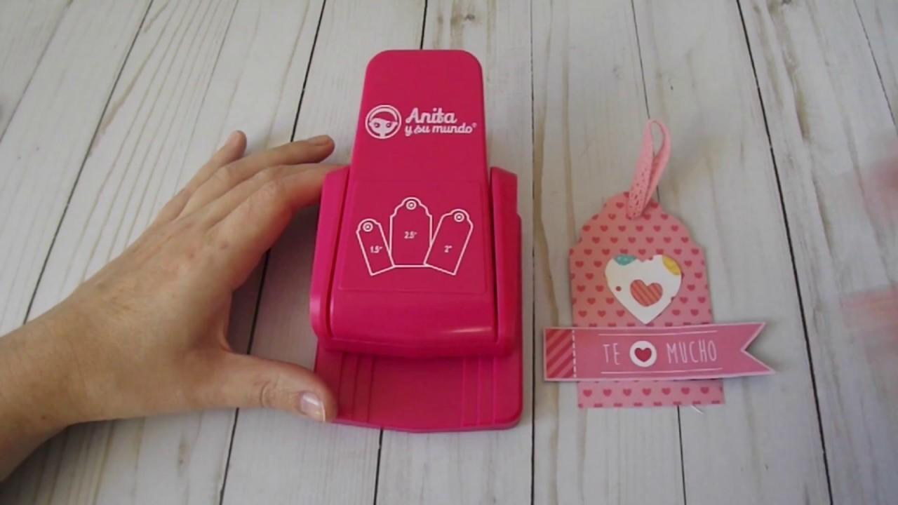 Tutorial para usar la troqueladora 3 etiquetas de Anita y su mundo