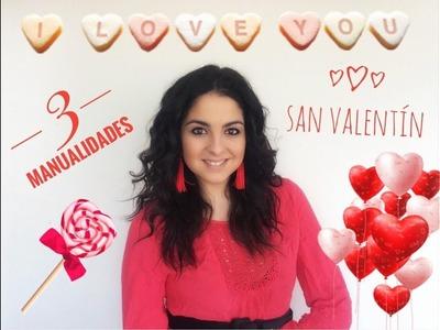 4 MANUALIDADES x San Valentin para niños