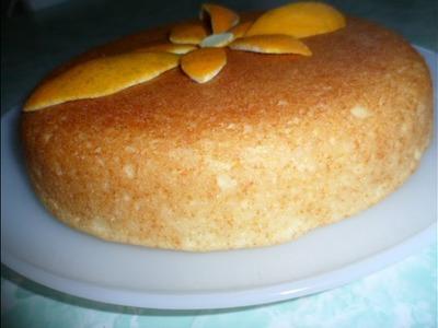 Bizcochuelo de naranja, sin huevo, sin leche, sin manteca, sin horno Orange biscuit,