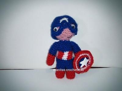 Capitán América Amigurumi-Tutorial-