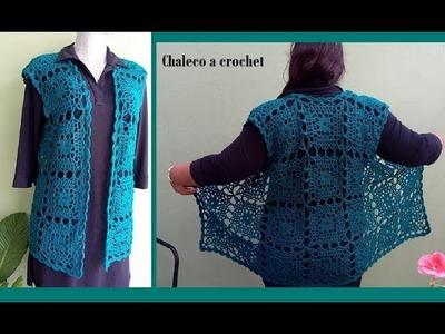 Chaleco a crochet paso a paso