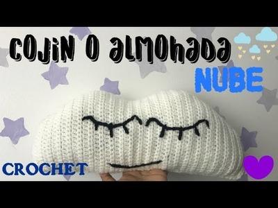 Cojin o almohada de Nube a CROCHET-Ganchillo.Cloud Pillow or Pillow CROCHET-Crochet.