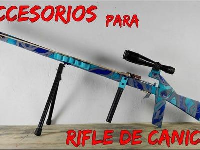 Como hacer accesorios para el rifle de canicas????