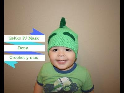 Como hacer Gorro de los heroes en pijamas Gekko o  pj mask en crochet
