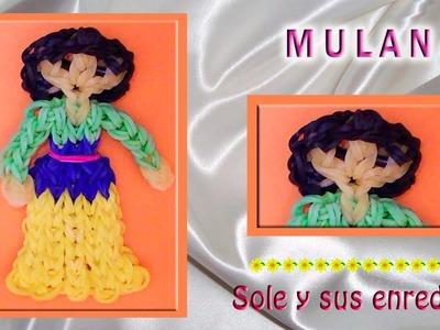 Cómo hacer la Princesa Mulán con gomitas elásticas