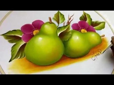 Como Pintar Frutas. Peras. How To Paint Pears