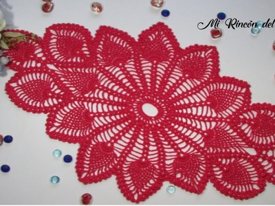 Como tejer CENTRO DE MESA crochet paso a paso (1 de 2) - How to crochet DOILY step by step (1 of 2)