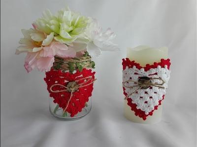 Como tejer corazón en crochet para deocrar en san valentin