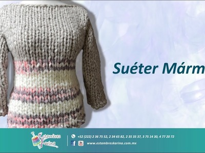 Cómo tejer un suéter en agujas fácil y rápido, estambre gigante Country Alize Estambres Karina
