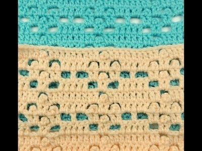Crochet: Punto para manta de Bebe # 3