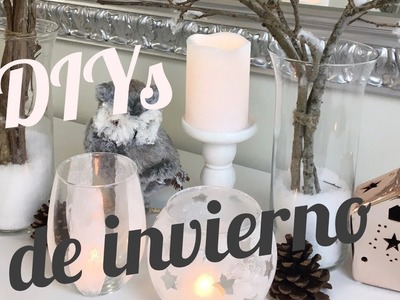 DECORACIONES DE INVIERNO | 3 DIYs SUPER FACIL Y ECONOMICO
