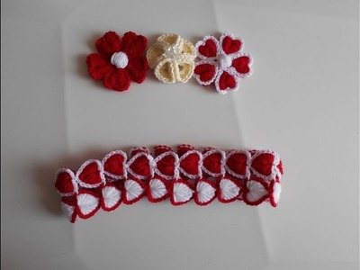 Diadema. Tiara. Vincha.Banda para el cabello a crochet. tutorial para zurdos