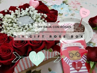 DIY CAJA CON ROSAS, REGALO. DIY GIFT ROSE BOX