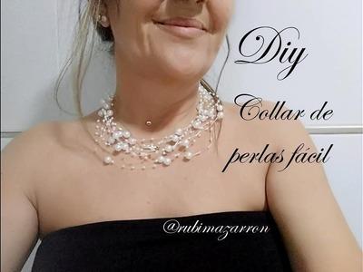 Diy. Collar de perlas para cualquier edad.