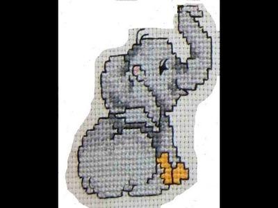 DIY Cómo bordar en punto de cruz un elefante