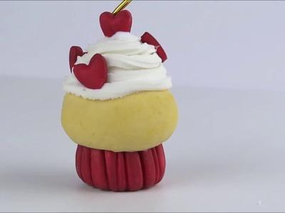 DIY Cupcake Portanotas Porcelana Fria. Bollito Tutorial Card Holder Cold Porcelain