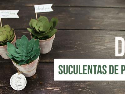 DIY Suculentas de Papel - Cricut | Cameo