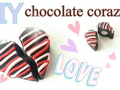 DIY Tutorial chocolate corazon. 14 de febrero Valentines day bff