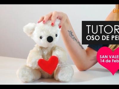 DIY  Tutorial Costura : Oso de peluche San valentin, día de los enamorados.