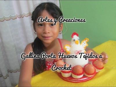 GALLINA (AMIGURUMI) PORTA HUEVO TEJIDO A CROCHET.
