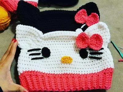 Gorro Hello Kitty a Crochet????