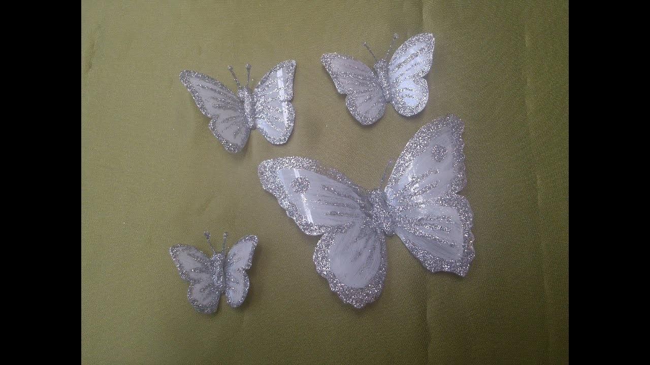 Mariposas blancas  - how to make white butterflies
