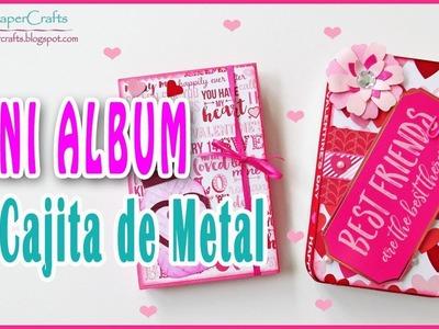 Mini Album San Valentin en Cajita de Metal TUTORIAL SCRAPBOOKING   Luisa PaperCrafts